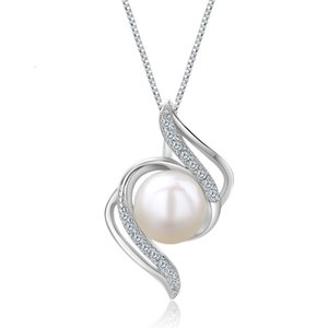 6mm Freshwater Natural Pearl Pendant Elegant Embellishment 925 Sterling Sier Jewelry CHD00332