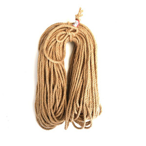 6mm 1m-50m Natural Jute Rope Hand-woven Rope Twine Cord Macrame String DIY Craft Handmade Decoration Pet Scratching