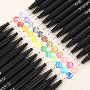 12Pcs Painting Pens Colorful 0.4mm Neutral Marker Pen Fineliner Pens For School Office Pen Art Supplies Cute Writing Supplies