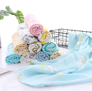 Infant Muslin Blanket Animal Baby Swaddle Baby Newborn Bathroom Towels Robes Infant Swadding Muslin Swaddle 120*110cm YL340