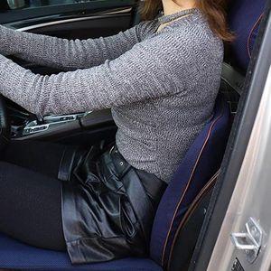 Seat Cushions Car Cushion Lumbar Support Waist Protection Memory Cotton Pillow Posture Correction Pad Parts Driver Driving