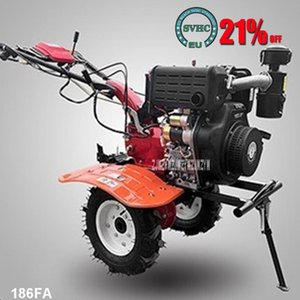 Power Tool Sets 186FA Diesel Tillage Machine Electric Start Type Micro Rotary Tiller 4-stroke Gasoline Engine Agricultural Weeding 4kw