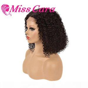 Perruque de fermeture de dentelle Miss Cara Curly pour Femmes Kinky Curly Lace Fermeture perruque 4x4 Bob Brésilienne Remy Perruques de cheveux humains