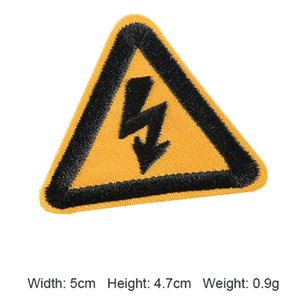 Fashion logo triangle traffic sign badge clothing accessories tool can be customized in any shape
