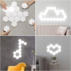 DIY Quantum Lamp Touch Sensor Modular Light Hexagonal Lamp LED Night Light Magnetic Hexagons Creative Decoration Wall Lampara In Stock