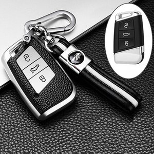 TPU Araba Anahtar Kapak VW Volkswagen Magotan 2018 2017 Passat B8 Skoda Superb A7 Deri Desen Akıllı Uzaktan Fob Koruyucu Kılıf