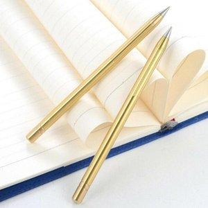 Retro Pirinç Mürekkepsiz Kalem Saf Pirinç Metal Hayır Mürekkep Kalem Hediye 1 ADET Seyahat Everlasting Kalem Açık Stylus Bakır W0J3