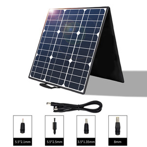 100W Portable Solar Panel, Cheap Foldable Solar Charger with 5V USB 18V DC Output Compatible with Portable Generator, Smartphones