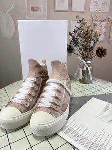 Dior shoes 2021 Moda de alta calidad Mujeres Casual Lienzo Zapatos Señoras Sabos de Microfibra en relieve en relieve en relieve 35-40