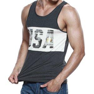 Sebean Carta USA Lámina Tank Tops Devarder Homme Nuevos Hombres En Chaleco De Verano Camisa De Algodón Moda Hombre Mode Mouwlleless Calzone