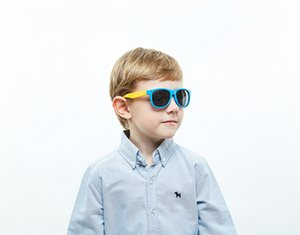 quality wholesale Fashion luxury kids sun glasses quick designer wayfarer children eye protect eyewear soft polarised sunglasses for baby