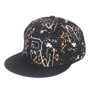 Top Kapaklar Siyah Graffiti Sanat Tarzı Moda Hip Hop Snapback Şapka Erkekler Kadınlar Için Yetişkin Şapkalar Açık Rahat Güneş Beyzbol Şapkası