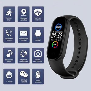 M5 Smart Band IP67 Sport Smart Sport Smart Montre Smart Men Femme Sold Hoom Sold Récompense Moniteur Fitness Bracelet pour Android iOS