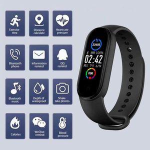 M5 Smart Band IP67 ip67 À Prova D 'Água Esporte Inteligente Relógio Homens Mulher Pressão Sanguínea Frequência Cardíaca Monitor Fitness Bracelet para Android iOS