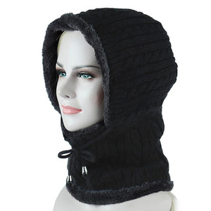 Winter Plush Thermal Skiing Hat Snowboarding Mask Cover Keep Warm Windproof Hiking Cycling Caps Men Women Balaclava Neck Scarf