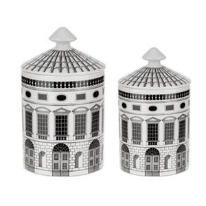 Neuschwanstein Castle Candle Holder Candles Jar Retro Storage Bin Ceramic Caft Home Decoration Jewerlly Storage Box
