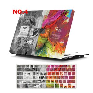Printed Plastic Case Cover for Macbook Air 11 12 A1932 Pro 13 A2251 A2289 15 16 Touch Bar A2141