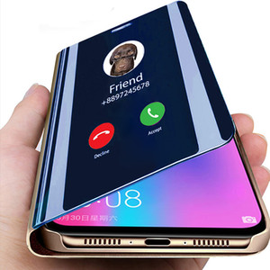 2021 Smart Mirror Flip Phone Case For Samsung Galaxy S21 S10 S9 S8 S20 FE Lite Ultra Note 20 10 9 8 Plus Fan Edition Cover