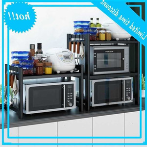 of microwave in The kitchen floor multi-layer oven three-layer household table electric rice cooker storage shelf