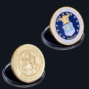 Frete Grátis EUA Desafio Militar Departamento de Moeda de Ouro da Força Aérea Washington D.C Valor da moeda com cápsula de moeda