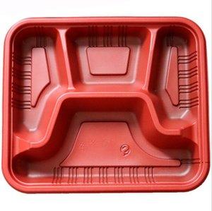 Descartável Take Out Recipientes Almoço Box Microwavable Suprimentos 3 ou 4 Recipientes de Armazenamento de Alimentos Plásticos Reutilizáveis com Tampas HWC6640