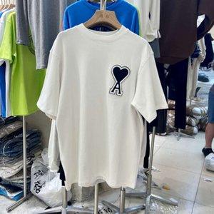T-Shirt Kurze T-Shirt Frauen Sommerkleid 2021 Koreanische Mode Liebe Stickerei Lose und vielseitige Western Stil Halbhülse Obermaterial