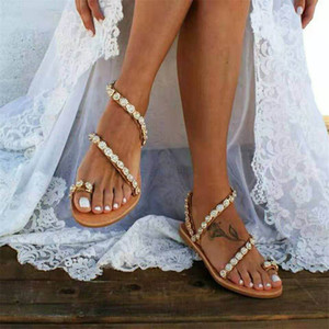 Women Sandals Gladiator 2021 Summer Casual Shoes Bohemia mujer Wedding Shoes Crystal feminina Ladies Flip Flops Beach Sandals 210226