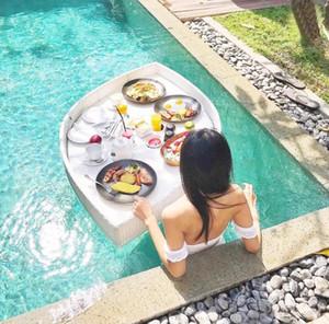 수영장 플로팅 아침 식사 트레이 호텔 워터 등나무 바구니 홈스테이 그물 레드 오픈 공기 대형 오후 접시