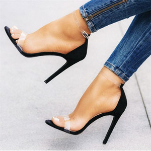 high-heeled 2021 large size cross-dressing back string cd fake women's shoes thin heel sexy