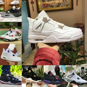 Air Jordan 4 retro jordans  Nike  Venta 2021 BRED CAT BLACK CAT 4 4S Zapatos de baloncesto Hombres Corte para hombre Púrpura pino verde blanco Diseñador de