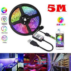 RGB USB Bluetooth-LED-Streifen-Licht IP67 flexibles Neon-Licht-Tape Wifi-Musik-Remote-App-Kontroll-TV-Hintergrundbeleuchtung Motorrad-Ledstrip-Kit