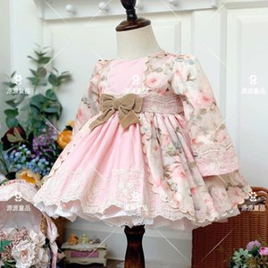 Miayii Baby Kleidung Spanische Lolita Vintage Türkei Spitze Bogen Drucken Ballkleid Geburtstagsfeier Ostern Prinzessin Kleid Für Mädchen Y3798