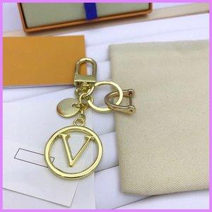 Key Charm Keychain Designer Keychains Women Mens New Luxurys Designers Key Chain Letters Unisex With Box D217137F