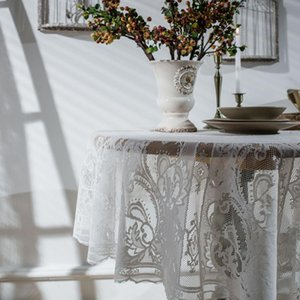 Table Cloth Modern Runners For Decoration Wedding Overlay Rustic Home White Lace Runner Luxury Elegant