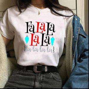 Print Holiday Snow Winter Fashion Women Cute Christmas Womens Tees Ladies Tops Graphic Female Lady Shirt T shirts08