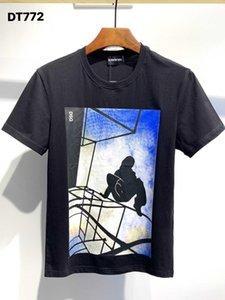 Dsquared2 Dsquared Dsq Dsq2 DQ Phantom Kaplumbağa 2020ss Yeni Erkek Tasarımcı T Gömlek İtalya Moda Tişörtleri Yaz Erkekler DQ T-shirt Erkek En Kaliteli 100% Pamuk Top 5855 SFK