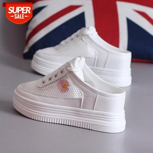 Slippers for Women Summer New Korean Version of No Heel Thick Bottom Pedal Platform Flats Women's White Shoes Sneakers #sC6c