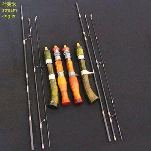 Высокоуровневый ультраслый приманка быстрая активное действие 4 разделов Cinnamomum Camphora ручка 1,5 м поток ловля рыболовецкий стержень высокий углеродный китайский SIC