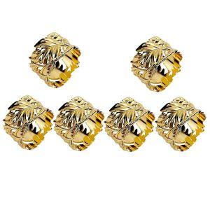 Napkin Rings Rings,Leaf Napkins Set Of 6 Exquisite Holders For Easter,Party,Wedding Dinner Decor