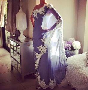 Vestido De 2021 Noiva Saree Evening Es Arabic Muslim Chiffon Applique Abendkleider One Shoulder Prom Party Gowns New IOTZ