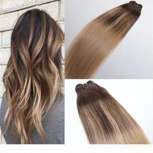 # 4 # 18 نسج الشعر البشري حزمة البرازيلي العذراء الشعر البشري لحمة أومبير balayage يسلط الضوء على صبغ اللون