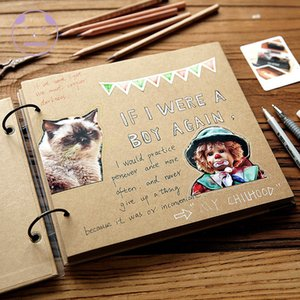 2021 New Angwing 20 White Pages diy Albums From Cover Loose-leaf wedding Photo Auto Adequate Scrapbook Album Liaison Case P5jn