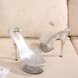 Heel Super 2021 Été Mode d'été Nouvelle plate-forme imperméable pointue Slim Haute talon occasionnel Robe de mariée décontractée Sandales Simple Femme