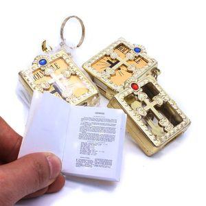 Католические религиозные ювелирные изделия Cross Mini маленькая библейская подвеска брелок