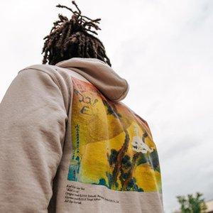 Herren Tide Designer Hoodies Hip Hop Ins Ins Europe und Amerika Ghost Letters Drucken Plus Samt Pullover Hoodie Übergroße Casual Tops für Männer Frauen