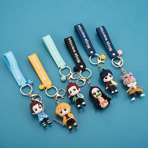 Japanischer Anime Demon Slayer Cartoon Pop Kreative Charme Bag Bügelbügel Fans Snoopers Sammlung Keychain Geschenke