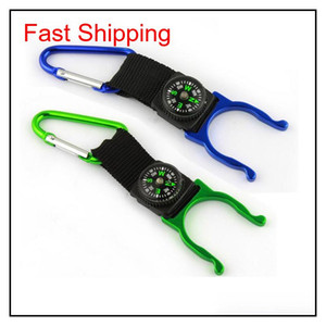 15 Pcs A Lot Carabiner Aquarius Buckle Outdoors Gear Gadgets Mountaineering Buckle With Compass Hiking qylpoc hotstore2010