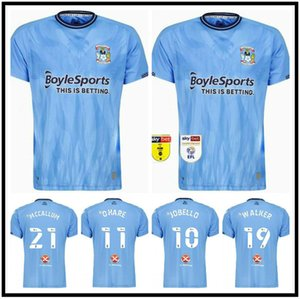 2021 2022 Coventry City Футбольные трикотажные изделия Ostigard Jobello Walker McCallum Da Costa Hamer 22 22 Home Blue Blue Футбольные рубашки Высочайшее Качество Размер S-XXL