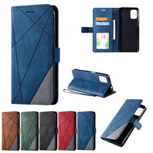 Funda telefónica de cuero versátil para Motorola Moto E E6S 2020 E7 G8 G 5G G9 POWER ONE FUSION PLUS BORDADA Tapa de la cubierta de la cartera