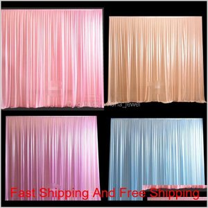 Wedding Centerpieces Cotton Curtain Stage Background Decoration Curtains Silk Slippery Fabric Non Fading Drapery New Arrival 169Xj7 L1 Jgwev